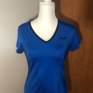 Fila blue shirt short sleeve top